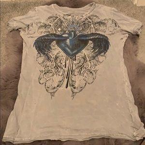 Sinful grey-Ian blue shirt size small